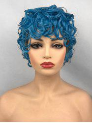 Short Side Bang Curly Anime Cosplay Synthetic Wig -