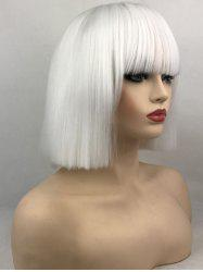 Full Bang Short Straight Bob Anime Cosplay Synthetic Wig -