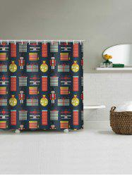 Christmas Toy Waterproof Bathroom Shower Curtain -