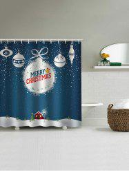 Christmas Letter Waterproof Bath Curtain -