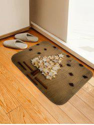 Christmas Stars Tree Print Anti-skid Water Absorption Area Rug -