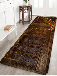 Palace Christmas Tree Pattern Anti-skid Water Absorption Area Rug -