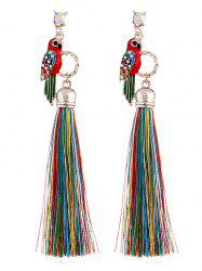 Parrot Design Rhinestone Inlaid Earrings -