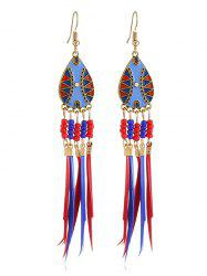 Bohemian Beaded Fringed Hook Earrings -
