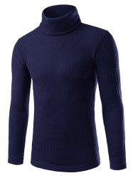 Turtle Neck Pullover Solid Sweater -