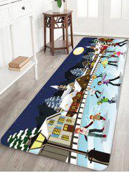 Christmas Night Printed Non-slip Area Rug -
