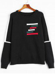 Plus Size Raglan Sleeve Striped Sweater -