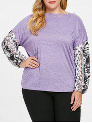 Plus Size Long Sleeves Graphic Tee -