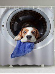 Washing Machine Dog Pattern Waterproof Shower Curtain -