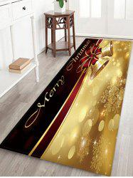 Merry Christmas Bells Pattern Anti-skid Water Absorption Area Rug -