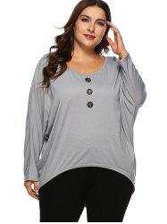 Plus Size High Low Batwing Tee -