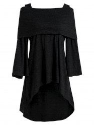 Off The Shoulder High Low T-shirt -