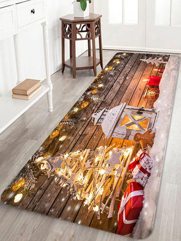 Affordable Christmas Lantern Gifts Pattern Anti-skid Water Absorption Area Rug