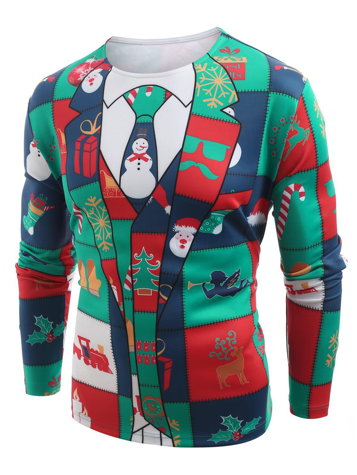 Christmas Elements - T-shirt à manches longues et imprimé blazer Multi-A L