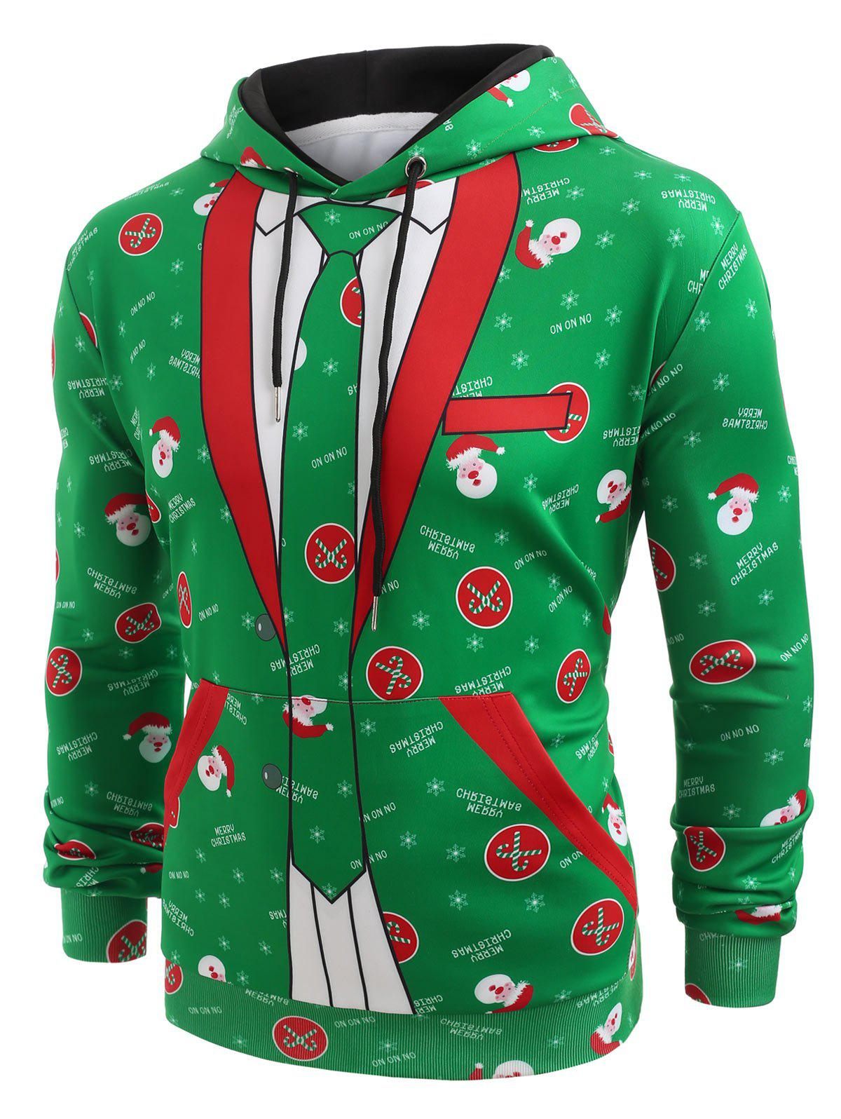 Affordable Christmas Blazer Pocket Pullover Hoodie