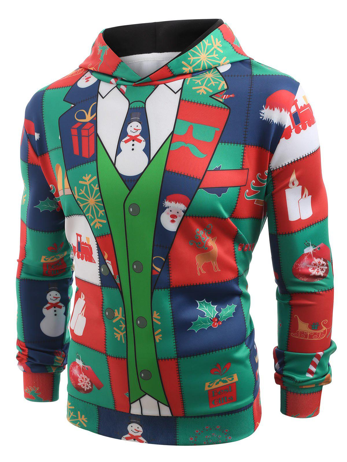 Unique Funny Christmas Elements Blazer Print Hoodie