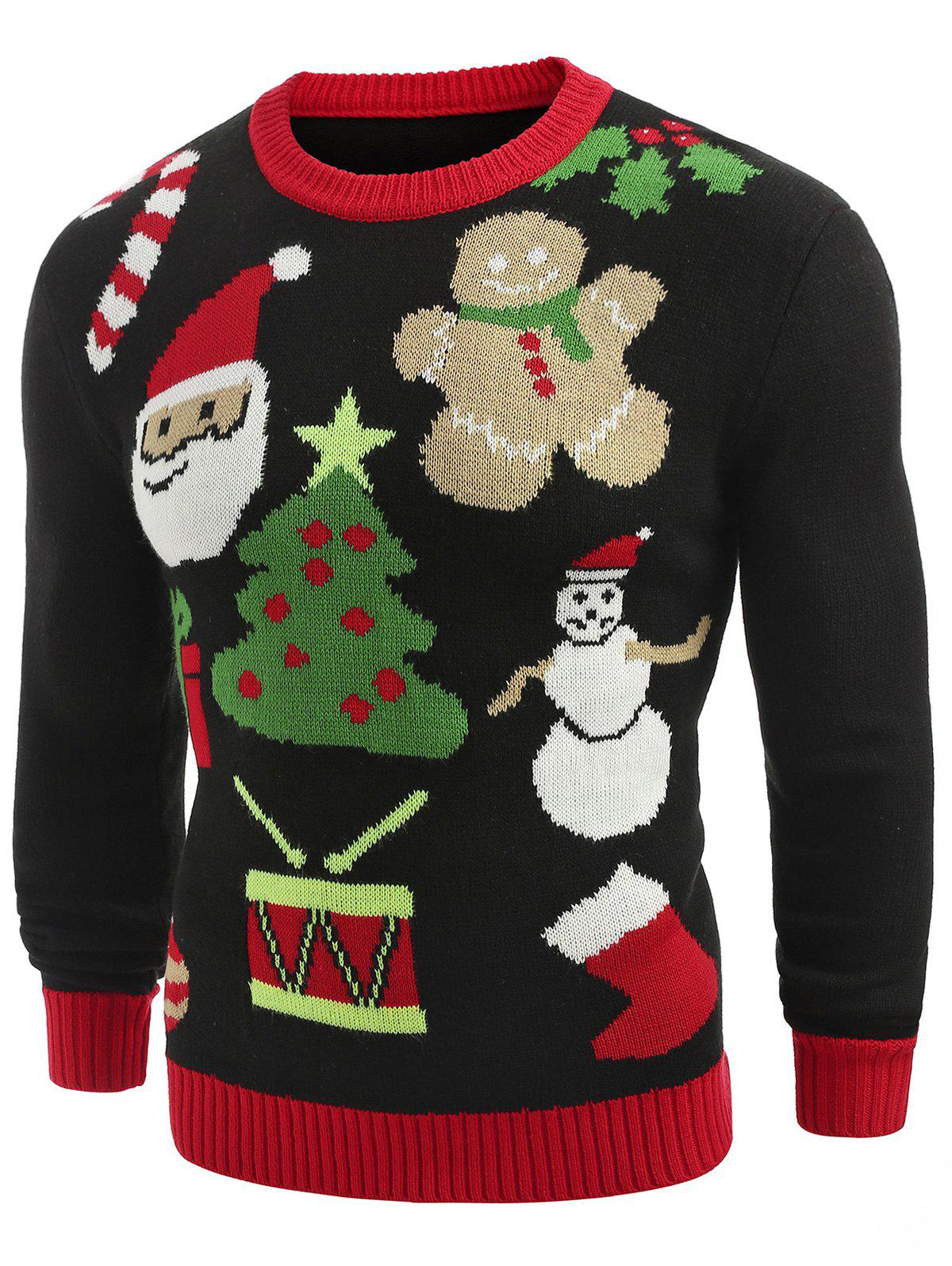Outfits Christmas Theme Printed Crew Neck Sweater