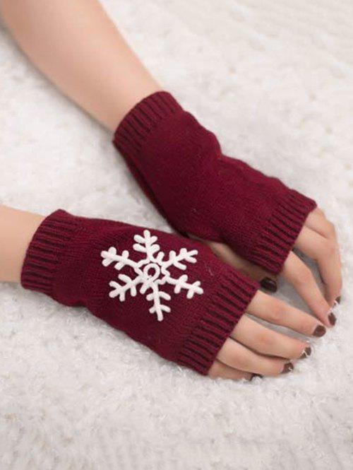 Fancy Winter Snowflake Fingerless Gloves