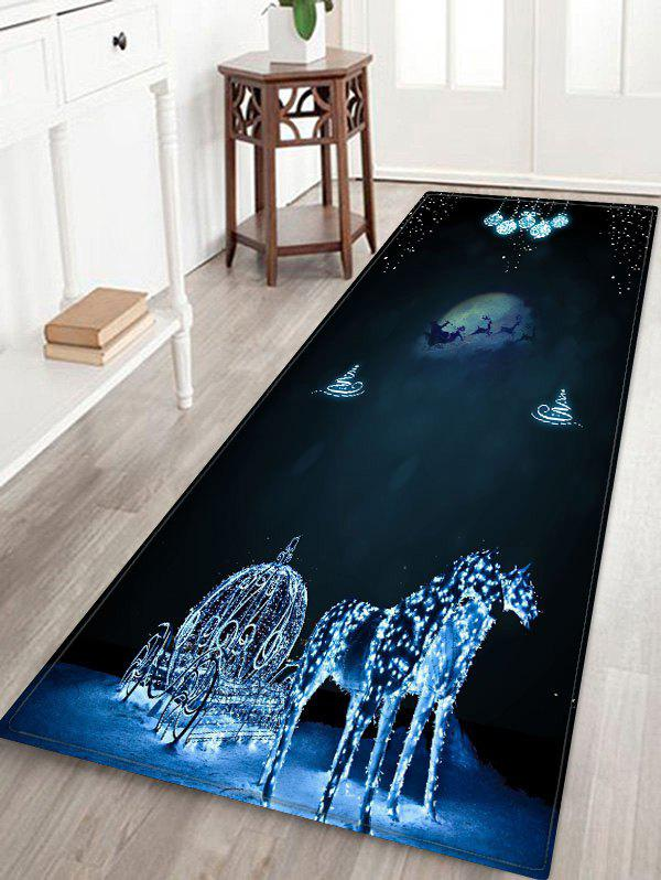 Shops Christmas Night Elk Printed Floor Mat