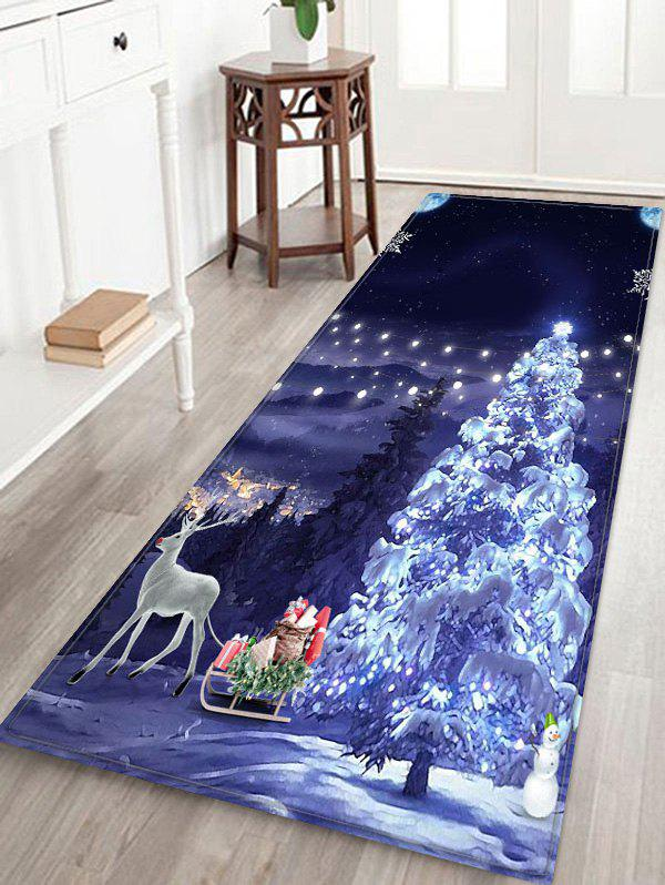 Best Christmas Tree Deer Printed Floor Mat