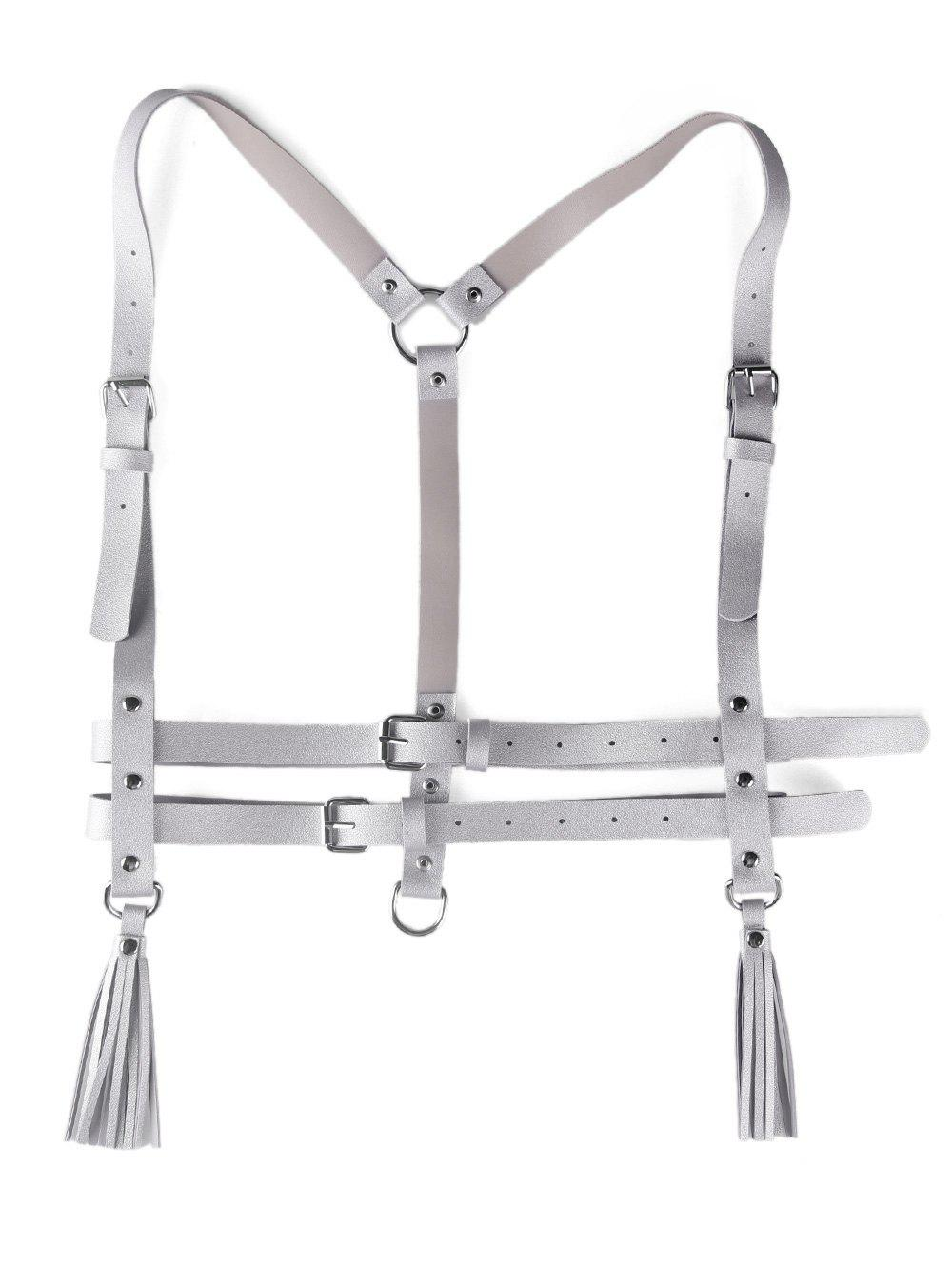 Affordable Metal Buckle Faux Leather Punk Harness Belt