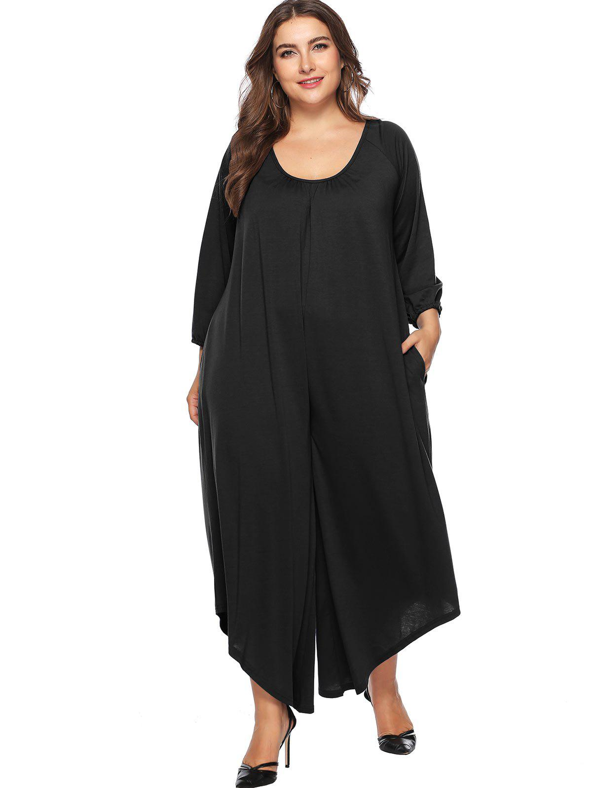 123cb8bf342 54% OFF   2019 Backless Plus Size Wide Leg Jumpsuit