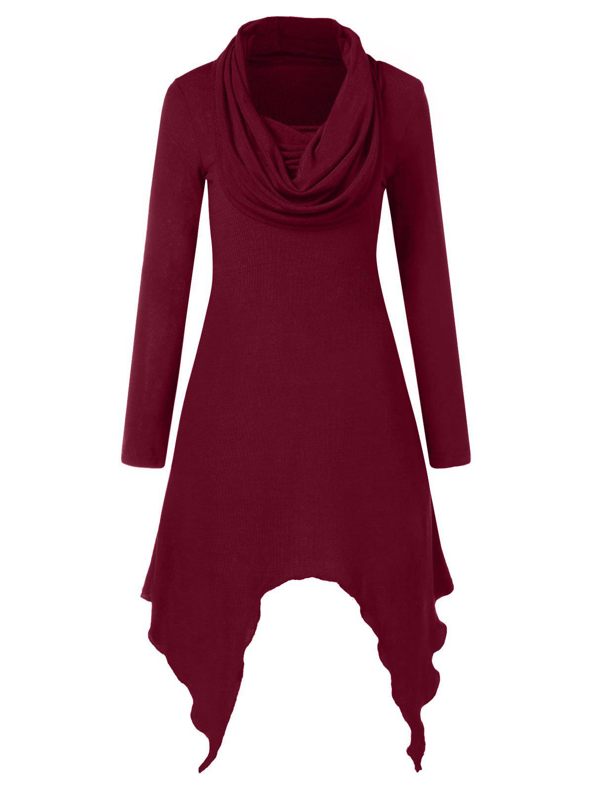 Outfits Cowl Neck Full Sleeve Handkerchief Dress