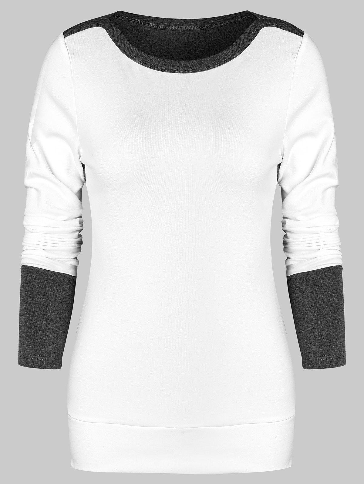 Chic Two Tone Fitted Sweatshirt