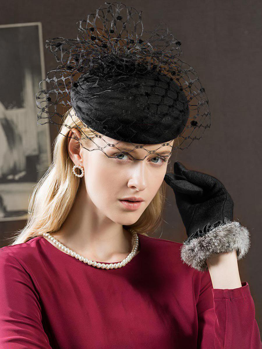 Hot Elegant Mesh Solid Color British Hat