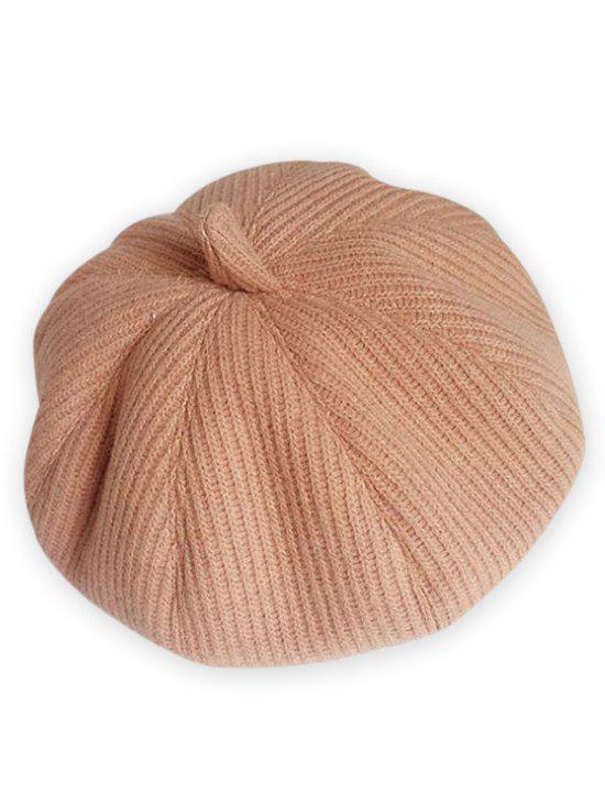 Trendy Vintage Solid Color Knitted Beret