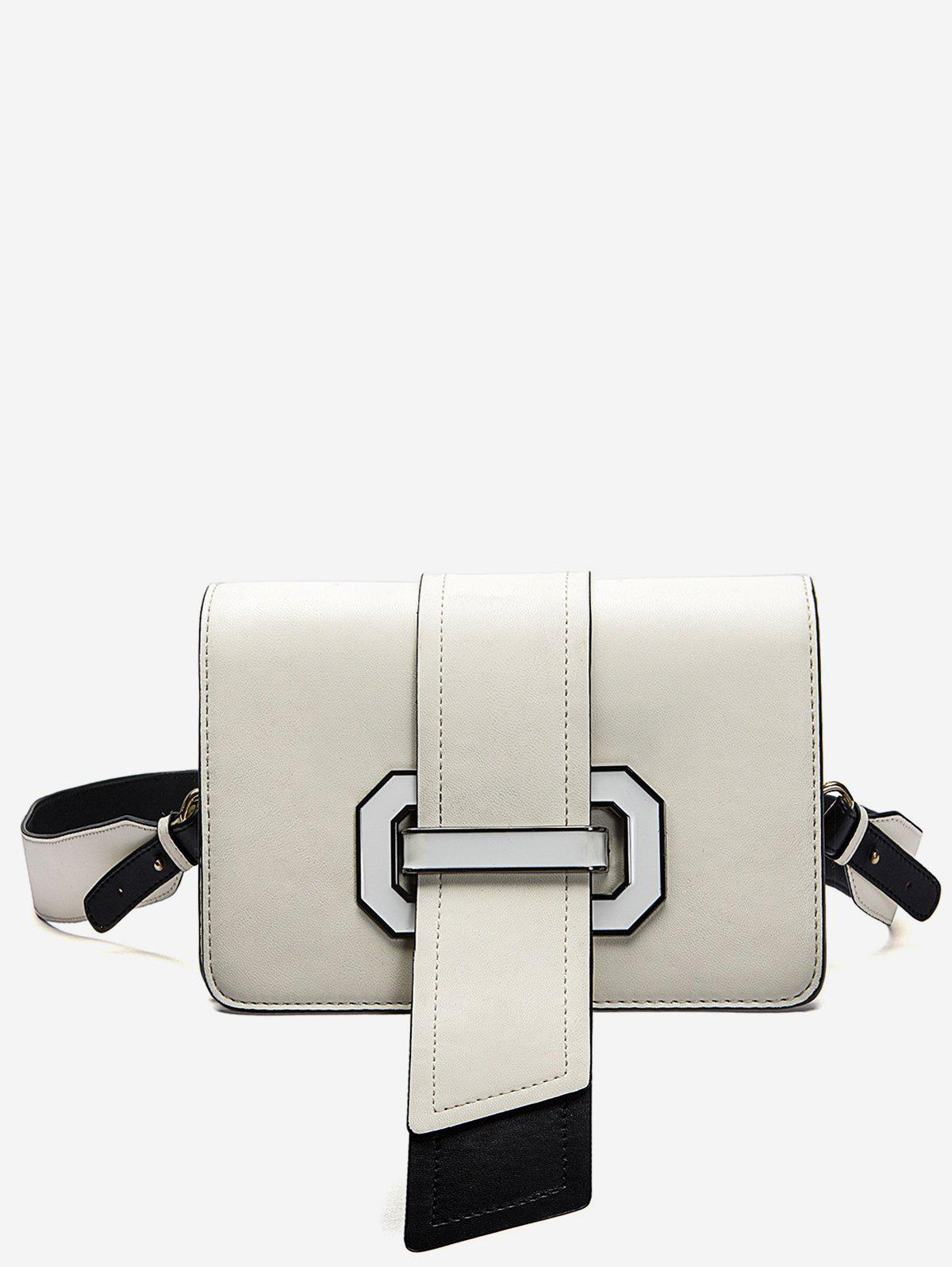 Fancy Color Block Flap Crossbody Bag