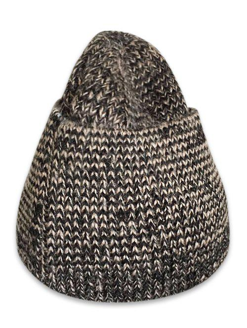 Fashion Winter Solid Color Knitted Flanging Beanie