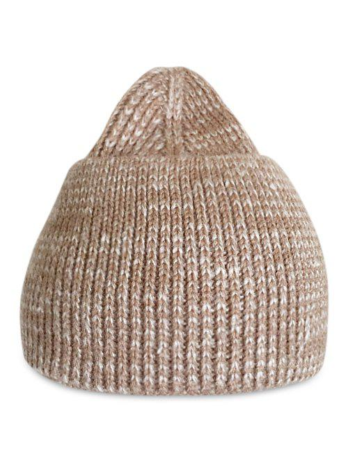 Best Winter Solid Color Knitted Flanging Beanie