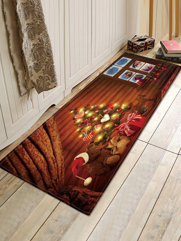Hot Christmas Tree House Pattern Anti-skid Water Absorption Area Rug