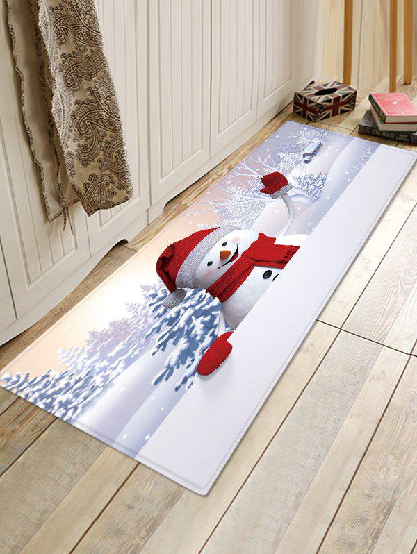 Outfit Christmas Snowman Pattern Anti-skid Water Absorption Area Rug