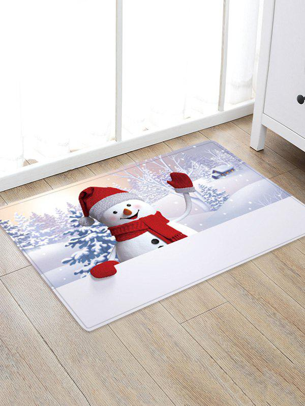 Store Christmas Snowman Pattern Anti-skid Water Absorption Area Rug