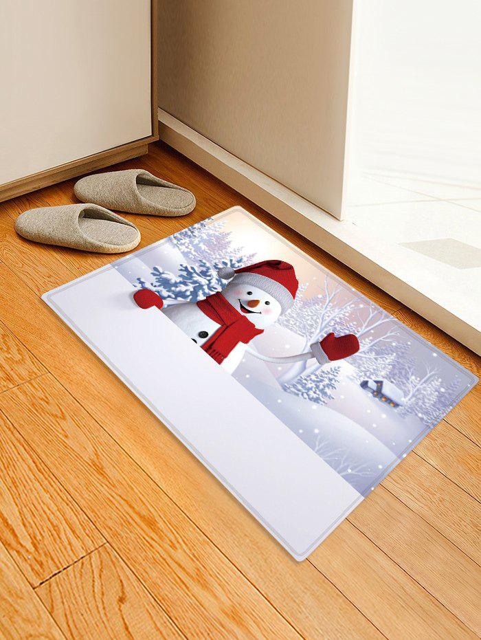New Christmas Snowman Pattern Anti-skid Water Absorption Area Rug