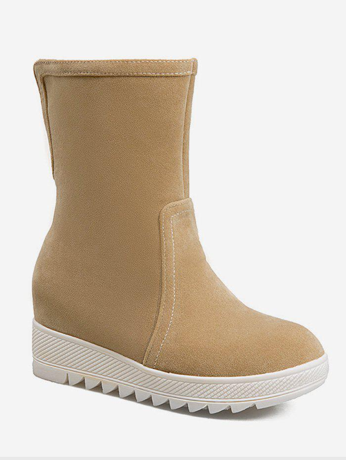Sale Plus Size Increased Internal Mid Calf Boots