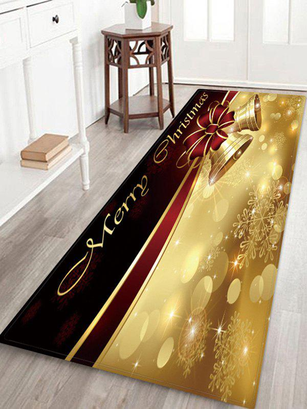 Fancy Merry Christmas Bells Pattern Anti-skid Water Absorption Area Rug