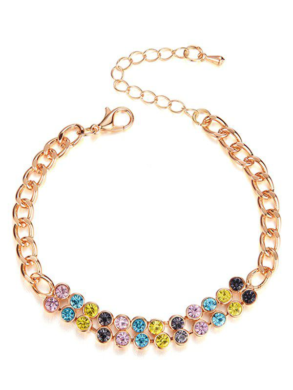 Buy Artificial Crystal Decoration Chain Bracelet