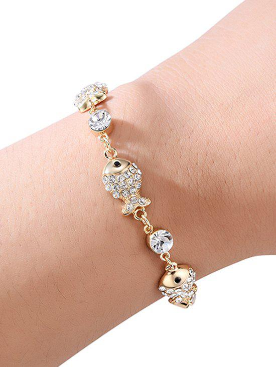Store Artificial Crystal Fish Shape Chain Bracelet