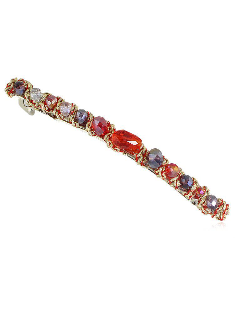 Fancy Round Artificial Crystal Hair Clip