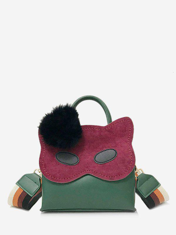Cheap Owl Pattern Faux Fur Ball Handbag