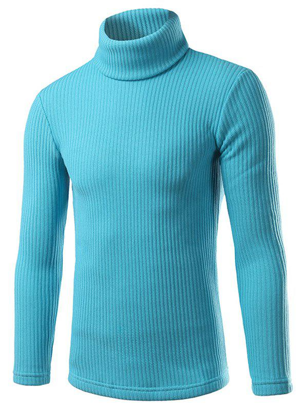 Trendy Turtle Neck Pullover Solid Sweater