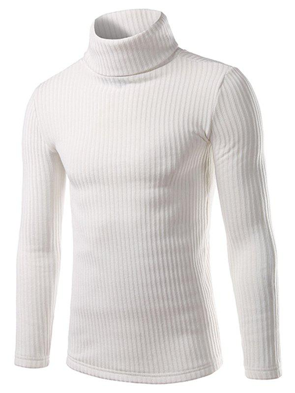 Fancy Turtle Neck Pullover Solid Sweater