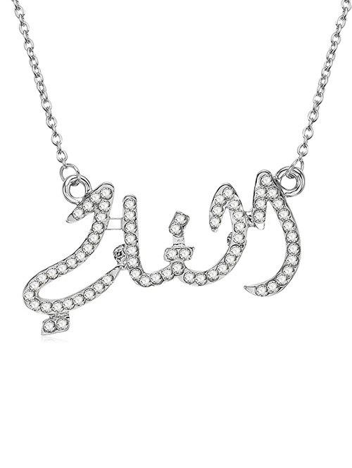 Store Alloy Rhinestone Geometric Shape Chain Necklace