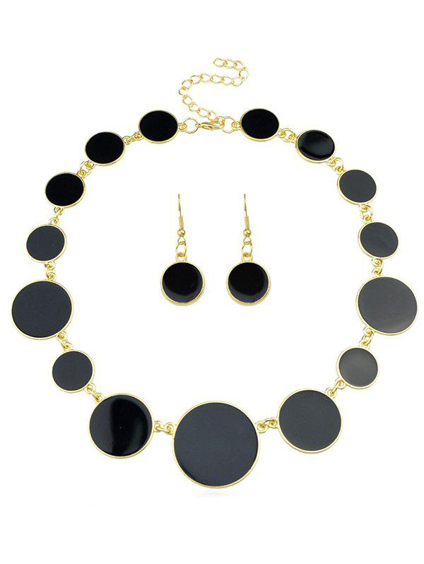 Best Round Shape Joint Chain Necklace Earrings Set