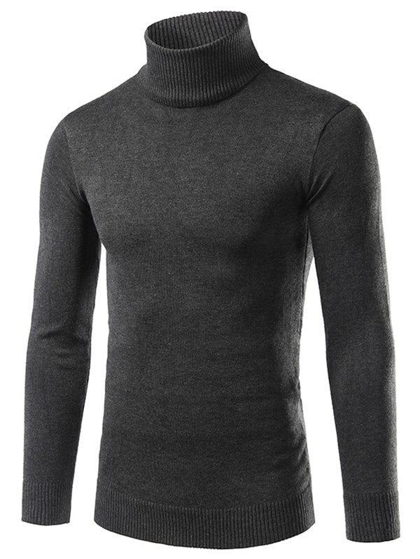 Fashion Solid Turtle Neck Long Sleeve Sweater