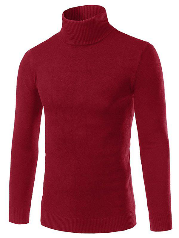 New Solid Turtle Neck Long Sleeve Sweater