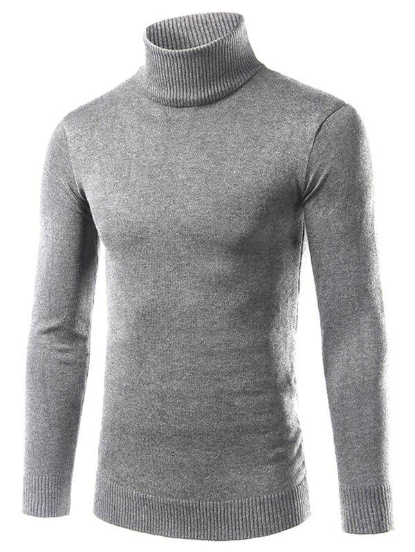 Outfits Solid Turtle Neck Long Sleeve Sweater